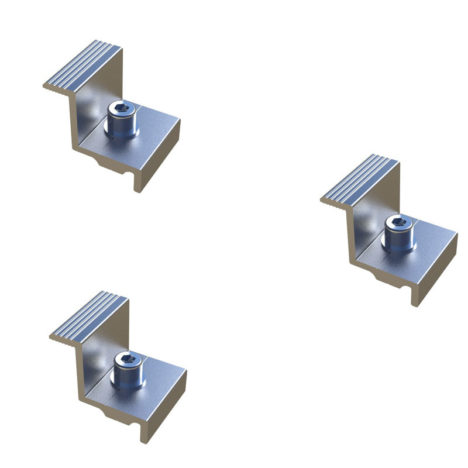 end clamp solar mounting components
