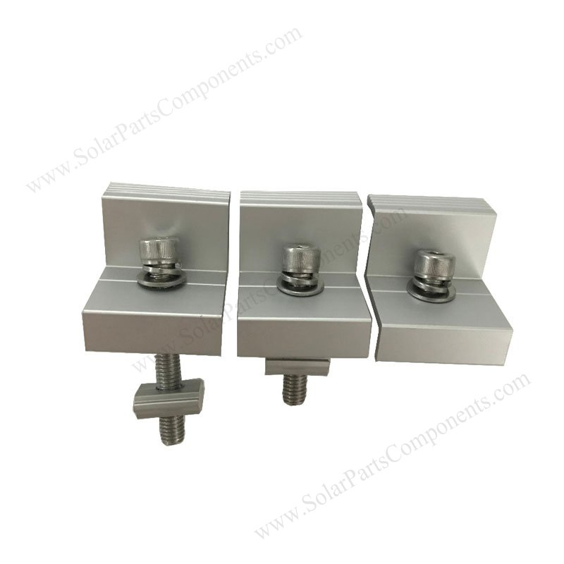 Aluminum Solar End Clamps For Frame Solar Panel Mounting