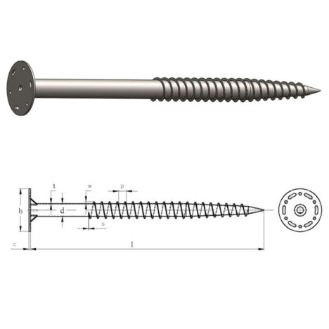 Solar Helix Ground Screw