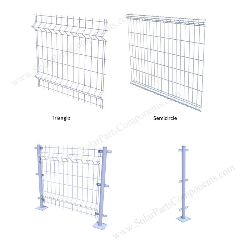 iron mesh fence for solar mounting  solar power array  plant  station  farm