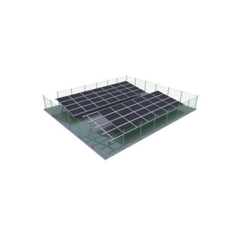 mesh fence for solar mounting