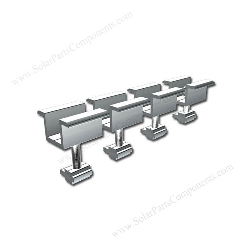 Aluminum Solar Mid Clamps For Frame Solar Panel Mounting