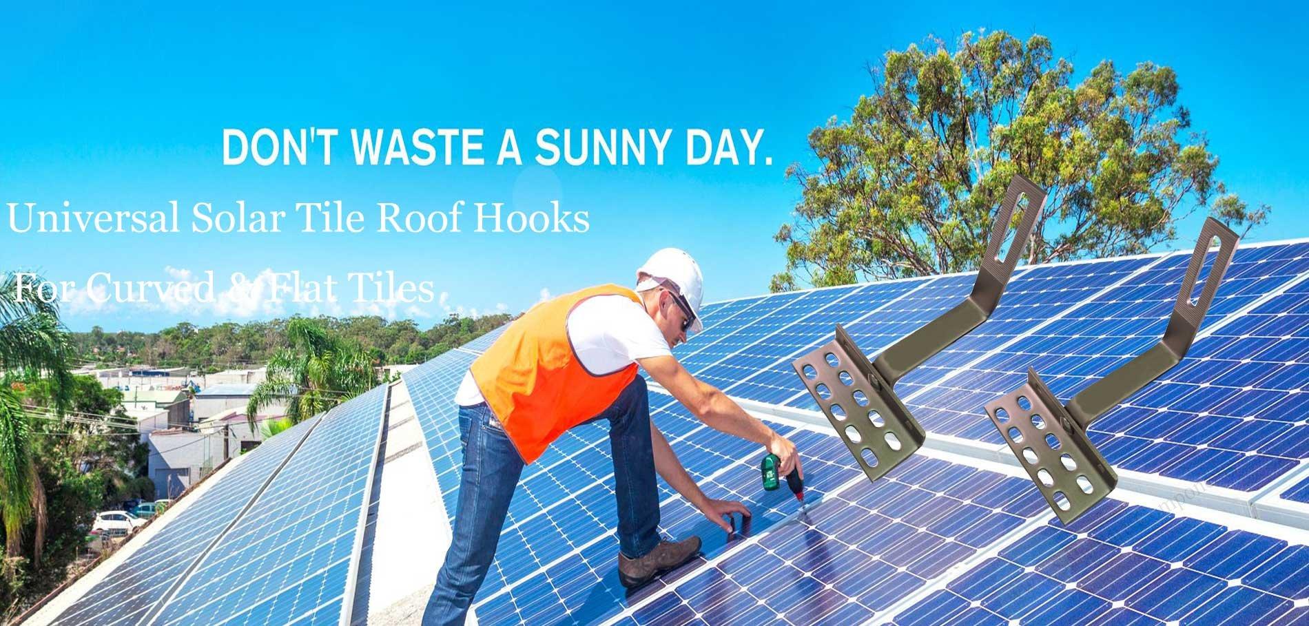 universal solar roof tile hooks
