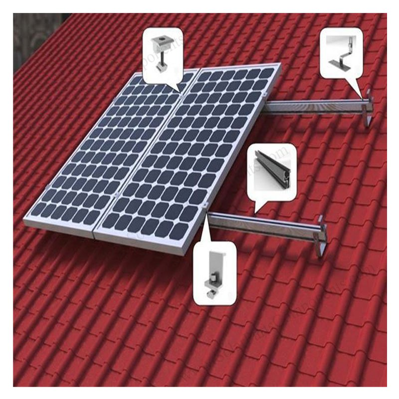 Solar Curved Tile Roof Hooks Height Adjustable For Side