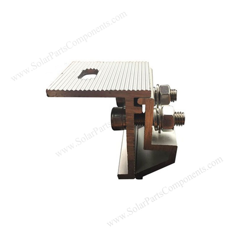 Solar L Foot Clamps And Brackets For Corrugated Tin Zinc