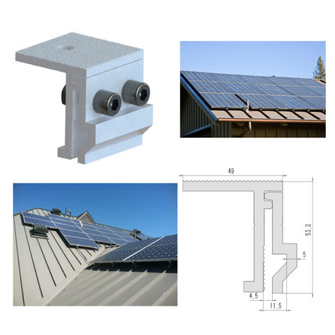Solar Metal Roof Clamps Brackets Standing Seam Photos