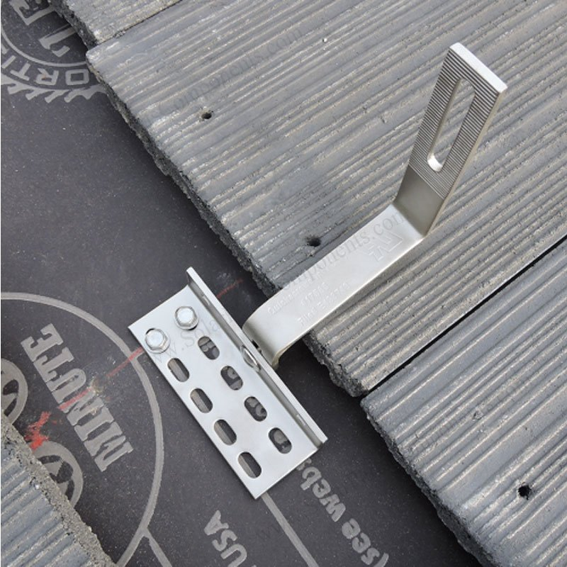 Universal Solar Tile Roof Hooks Adjustable For Side
