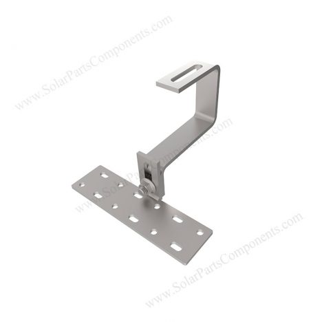 Curved Tile Roof Hooks, Height adjustable, Bottom Mounting