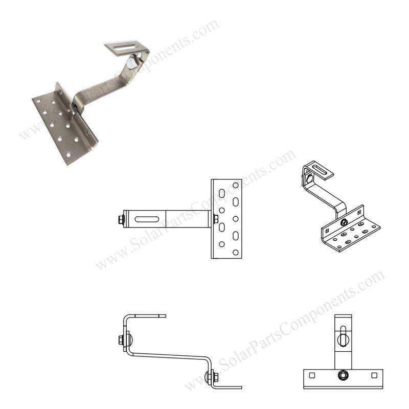 tailored double adjustable PV module roof hooks