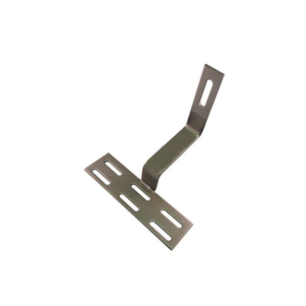Solar Curved Tile Roof Hooks , Non-adjustable for Side Mounting Rails