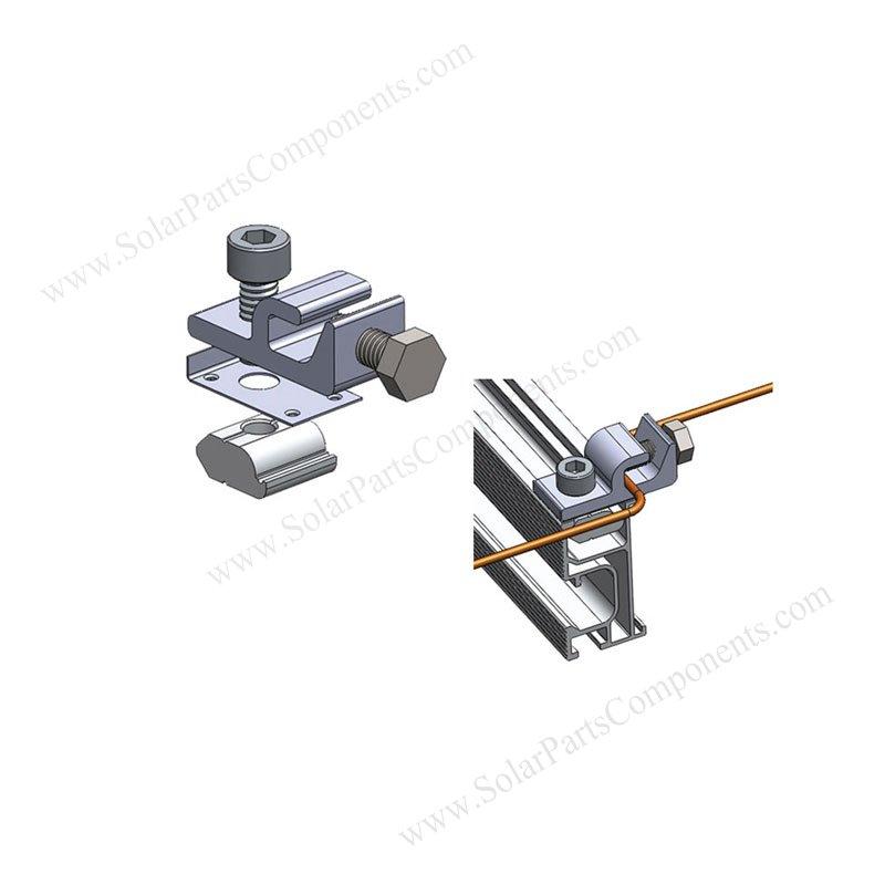 Solar Grounding Lugs Pv Earthing Lug Photos Drawing Profile