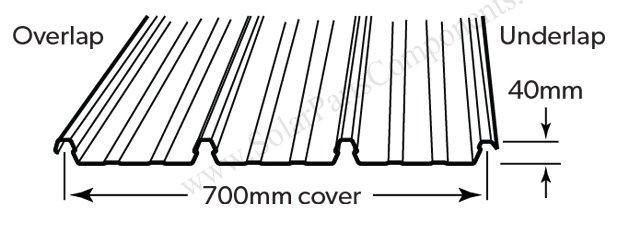 solar klip lok metal roofing 700