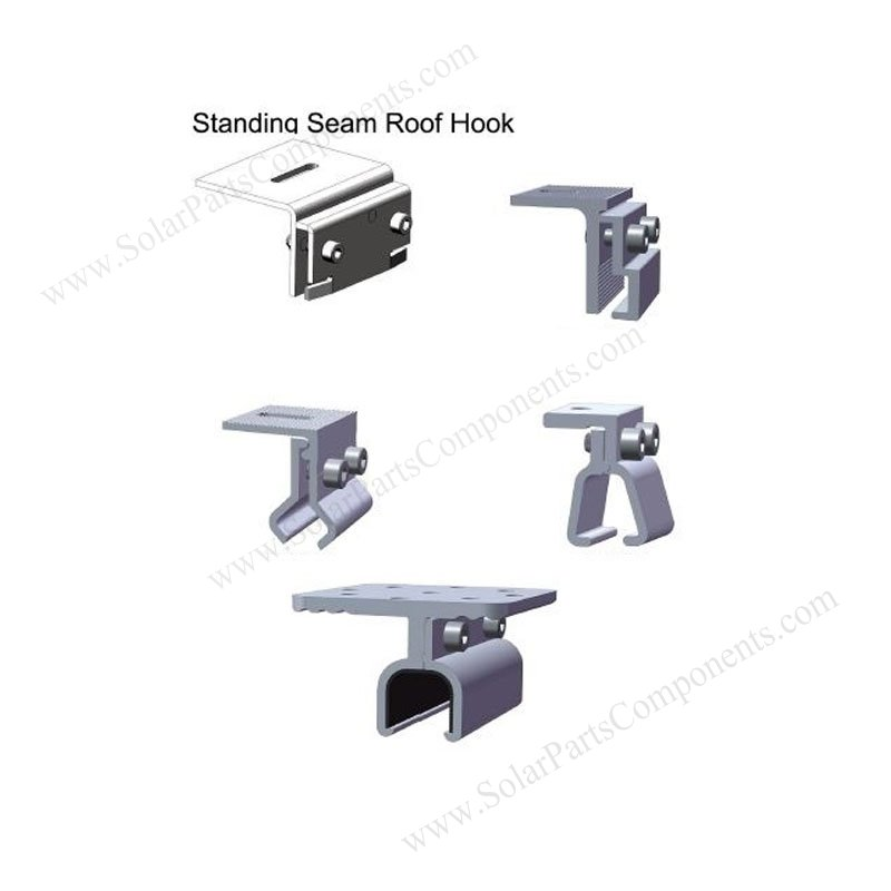solar stand seam metal roofing mounting clamps