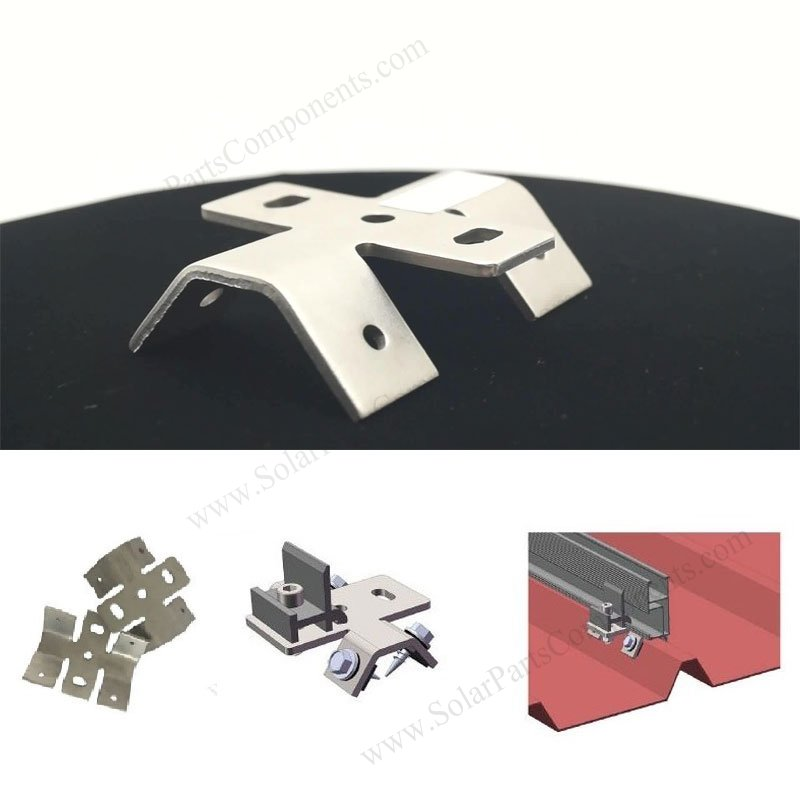 Metal Sheet Solar Mounting Clamp, bottom mounted