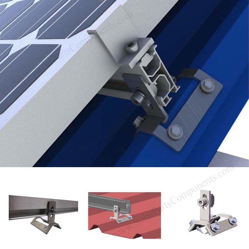 Metal Sheet Solar Mounting Clamp, side mounted
