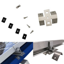 Solar Bottom Mounting Clamps And Brackets For Corrugated