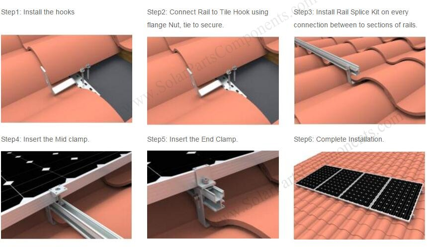 Best Choice For Solar Tile Roof Hook Series Amp Accessories