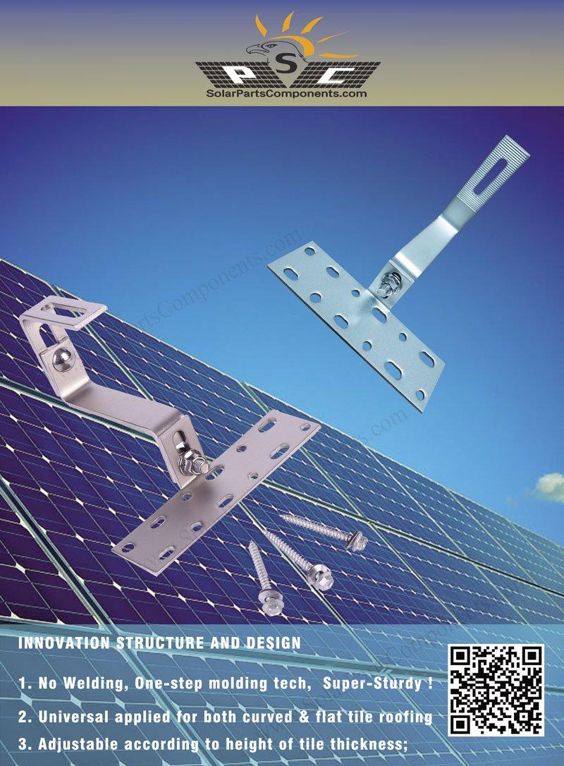 weld-less Solar Panel Tile Hook series