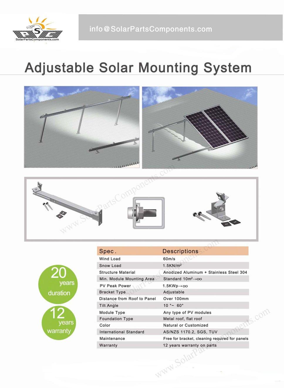 Adjustable Solar Panel Mounting System