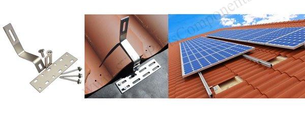 Solar Mounting Hooks for Curved, Roman, Spanish tiles