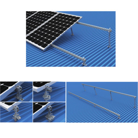 adjustable tilt solar metal roof mounting system