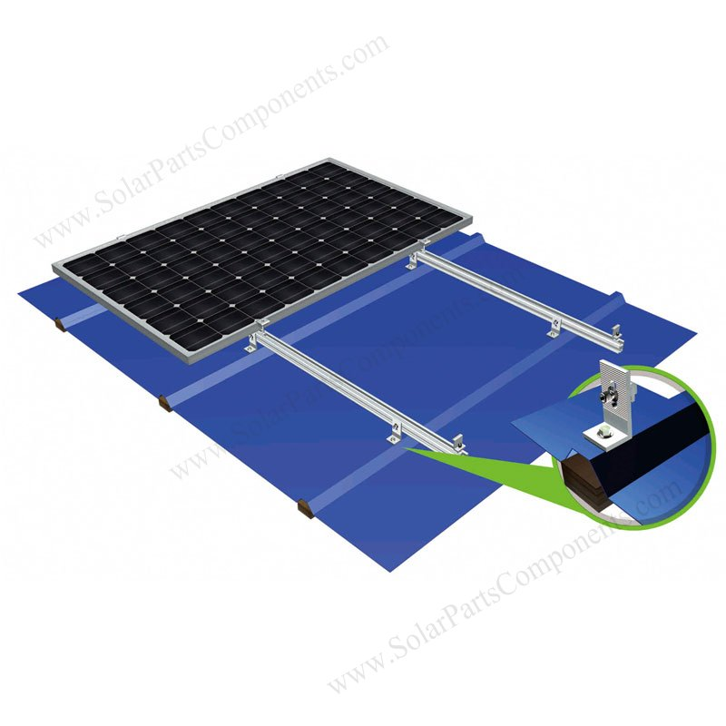 L Feet Clamp Solar Mounting Systems For Metal Zinc Tin