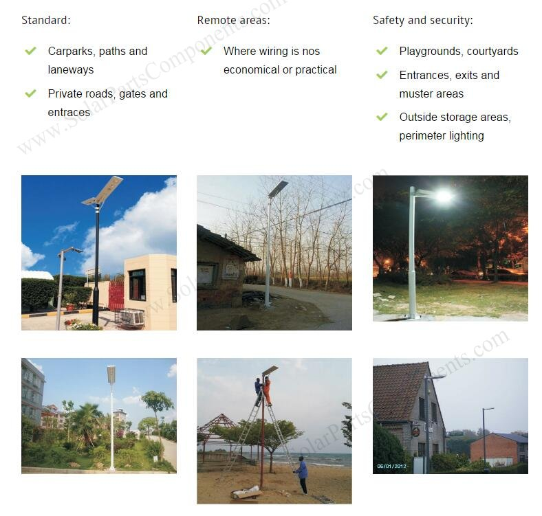 all in one solar street lights series application