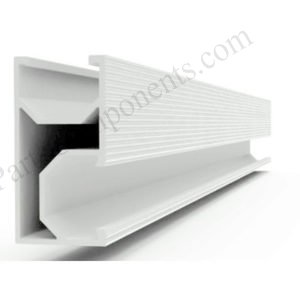 Alum Rail Solar Curved Tile Roof Mounting Systems Side Mounted