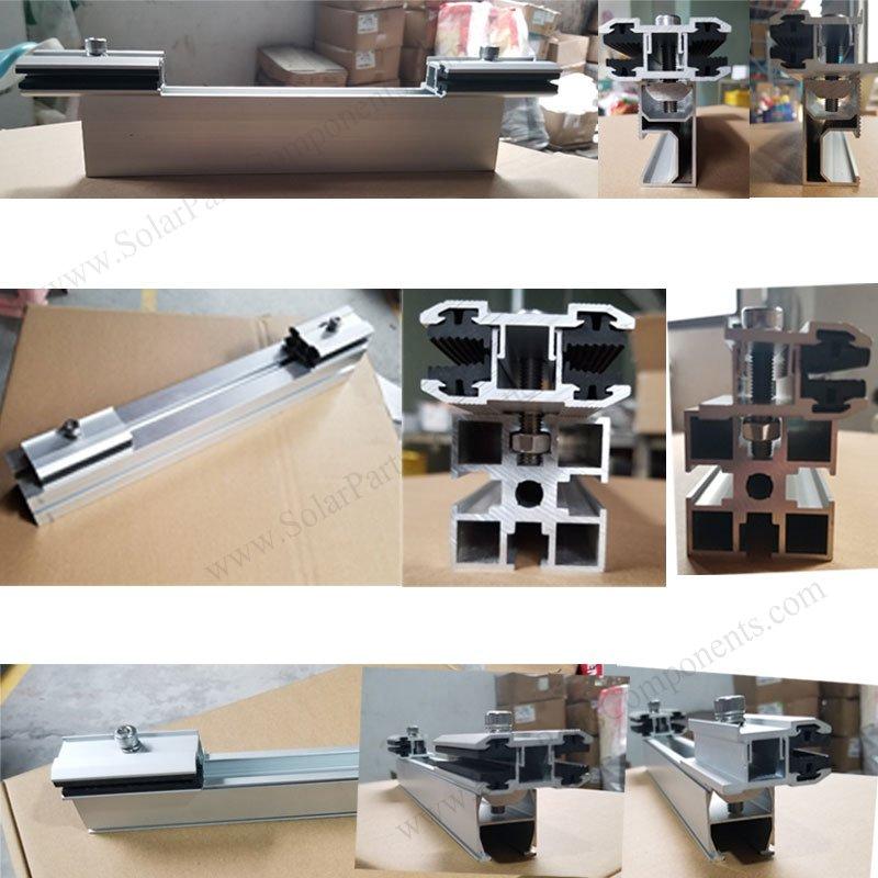 frameless bifacial PV module clamps