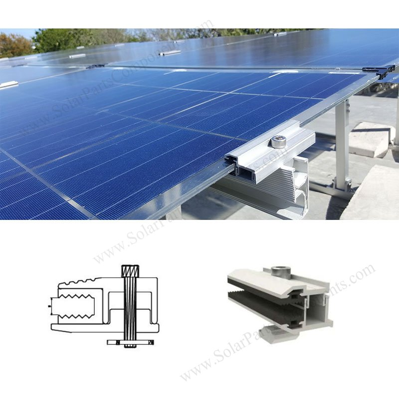 Aluminum End Clamps For Frameless Solar Panel Mounting