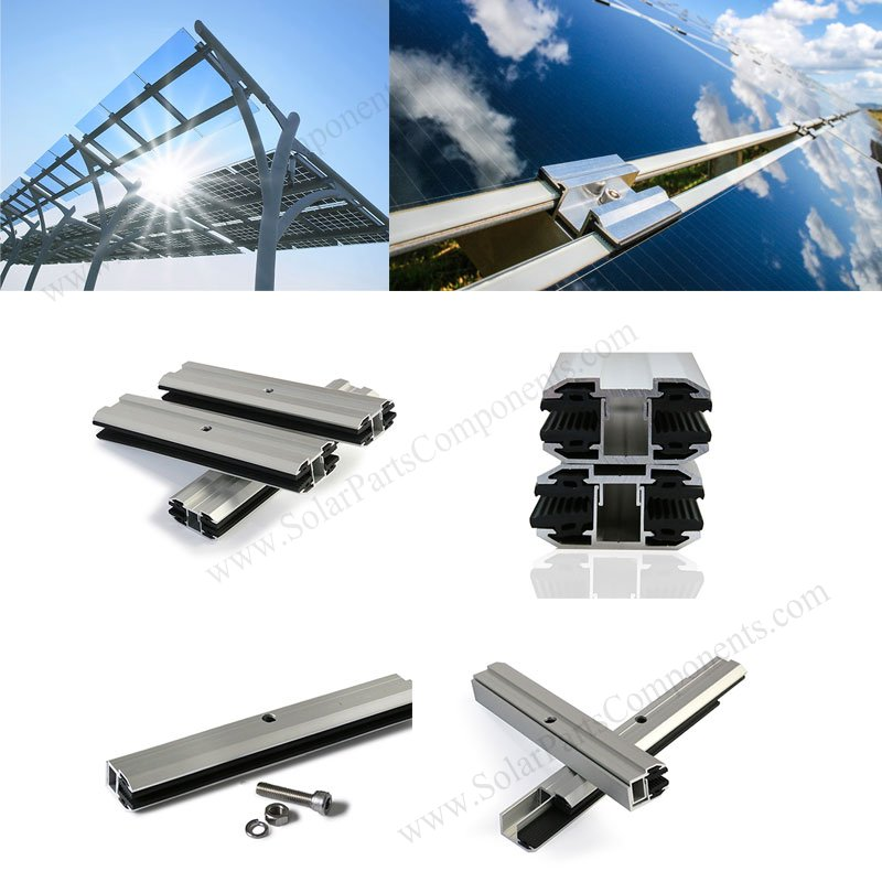 Glass Solar Module Mounting Mid / End Clamps