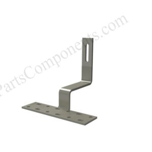 Side Mounted Hook for Solar Curved Tile Roof Mounting Systems