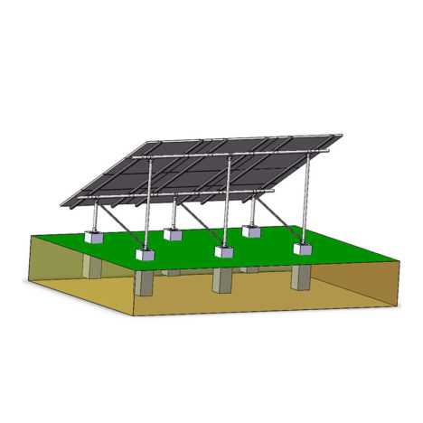 solar ground mounting systems concrete pier n type