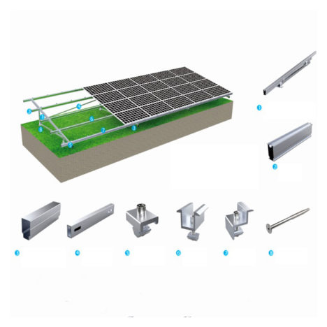 solar ground mounting systems screw pile n type