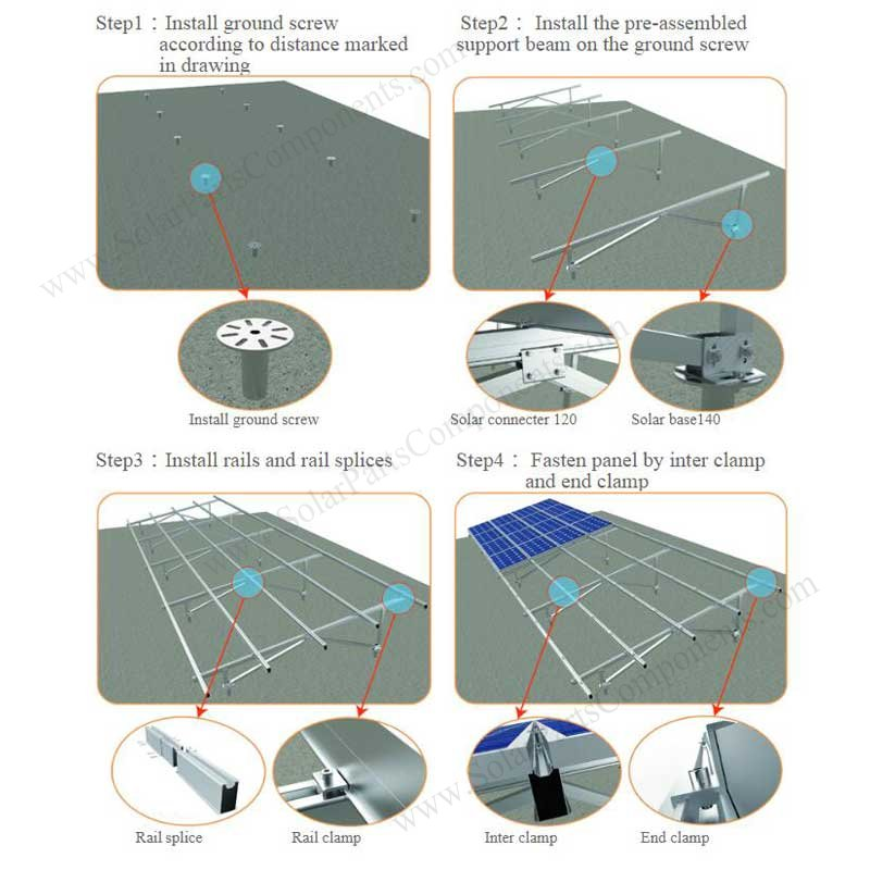 Solar Panel Mounting Systems W Type Installing Steps