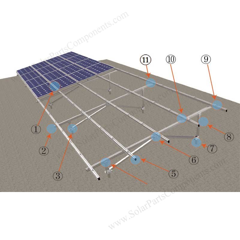 Solar Panel Mounting Systems W Type Component List