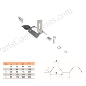trapezoidal metal roof clamps