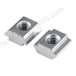 Aluminum T sliding nut m8