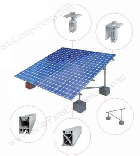solar ground mounting structure demo N type