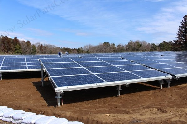 solar ground mounting system with screw pile design case