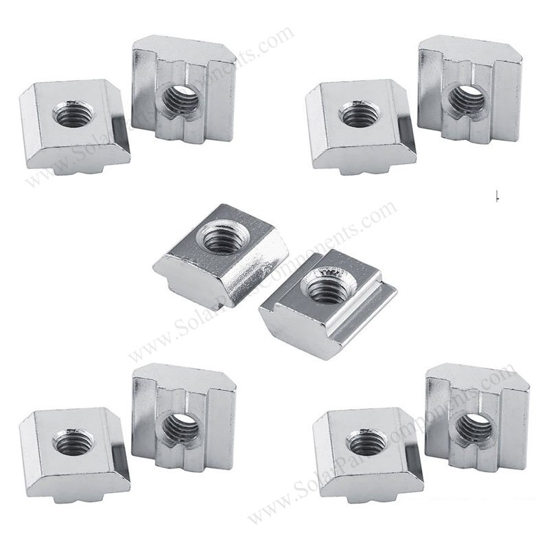 Aluminum Sliding Nuts For Solar Panel Mounting
