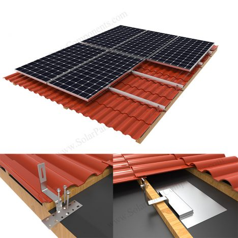 solar roof mounting system for Spanish tile