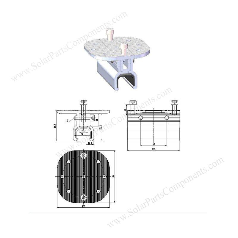 kliplok metal roof clamp profile