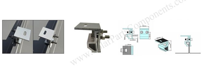 solar metal roof clamps standing seam Drawing SPC-000