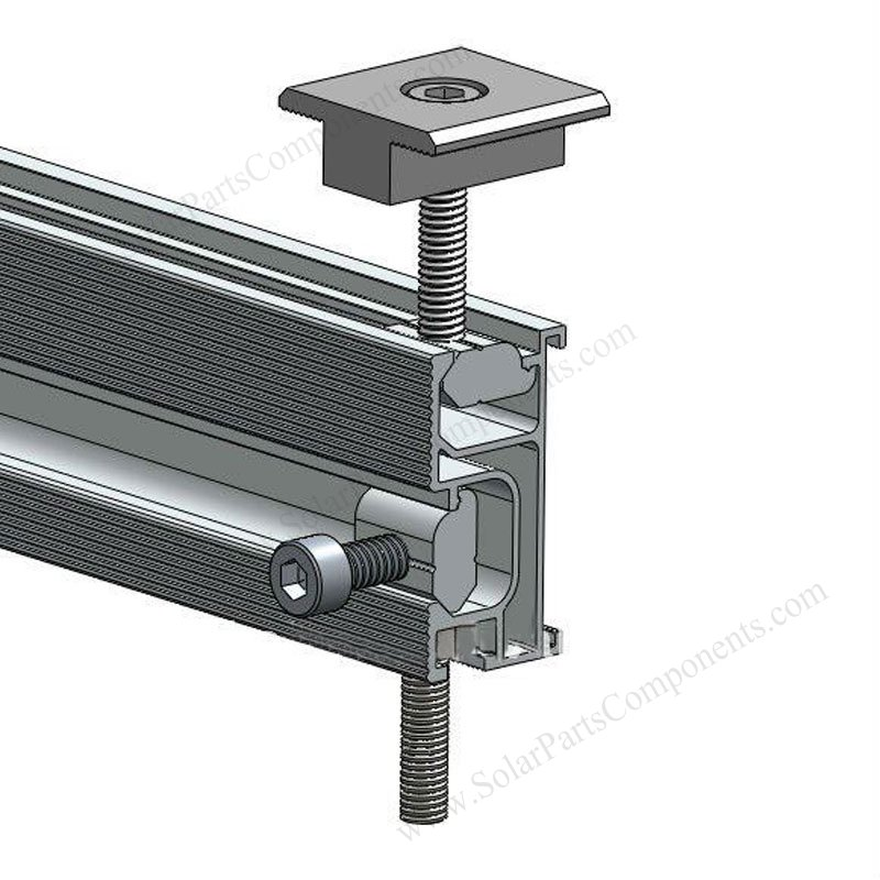 Solar Mounting Rails Spc R001 For Solar Panel Installation