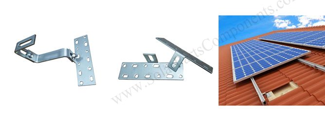 Drawing for Double adjustable, Roof Tile Hooks, Bottom Mounted, Weldless