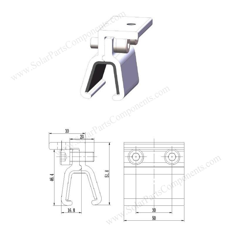 solar tin roof clamps Drawing SPC-001