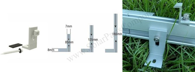 solar metal roofing L foot profile