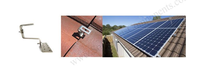 PV modules tile roof hooks adjustable sizes