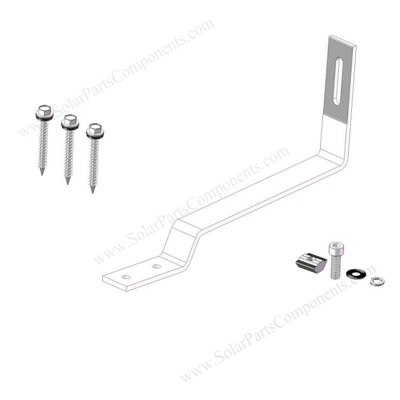 flat tile roof solar mount hooks sizes